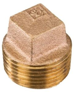 1/2'' Square Head Cored Brass Plug