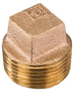 3/8'' Square Head Cored Brass Plug