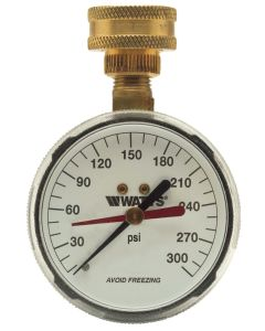 WATTS, 276H300-3/4 69721 Water Pressure Test Gauge
