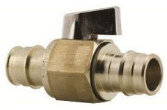 1/2'' PEX x PEX Brass 1/4 Turn Lever Handle In-Line Ball Valve