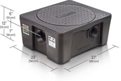 GB1 - 20/25 GPM Great Basin 64.9 to 70 lbs. High Capacity Grease Interceptor for Indoor Installation