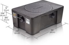 GB2 - 35/50 GPM Great Basin 127.6 to 130.5 lbs. High Capacity Grease Interceptor for Indoor Installation