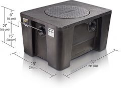 GB3 - 50/75 GPM Great Basin 175.6 to 272.7 lbs. High Capacity Grease Interceptor for Indoor Installation