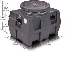 GB50 - 50 GPM Great Basin 249 lbs. High Capacity Grease Interceptor for Indoor/Outdoor Installation