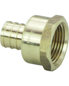 1/2'' Crimp x FIP Female Adapter Brass, Prt# 46333